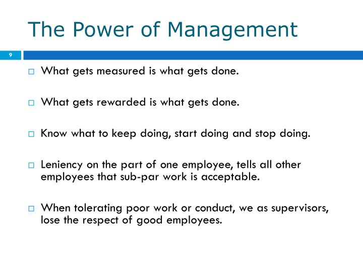 The Power of Management