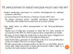 vi implications to india s nuclear policy and the npt