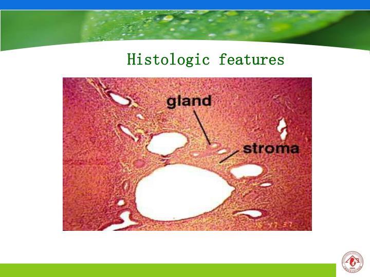 Histologic features