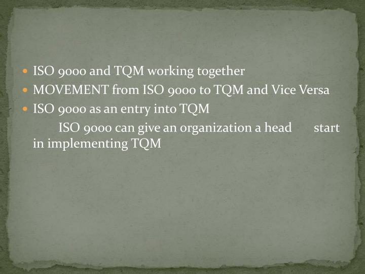 what is tqm and iso