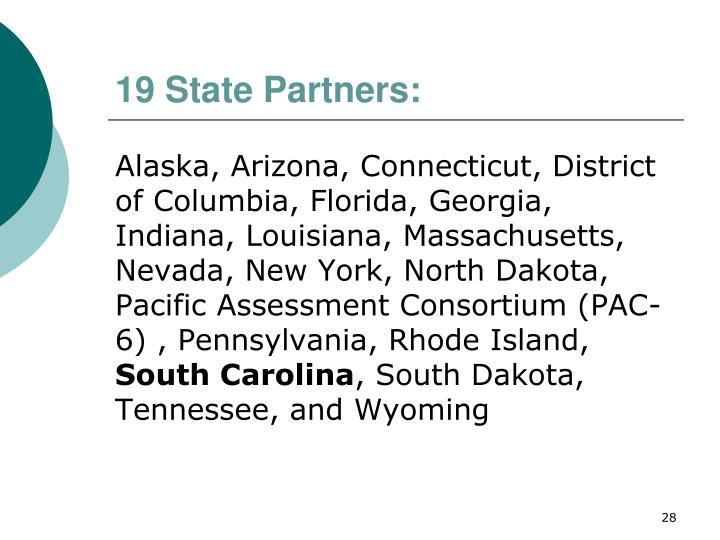 19 State Partners: