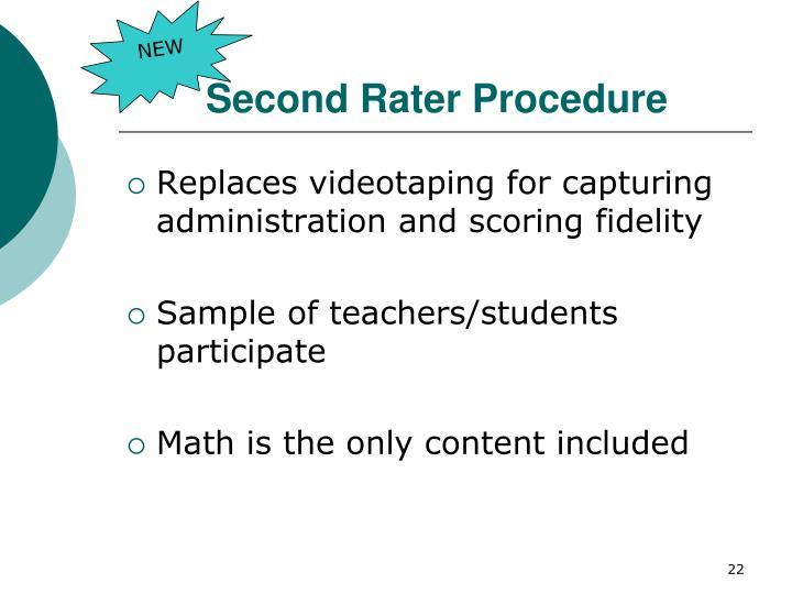 Second Rater Procedure