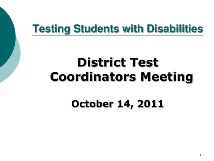 testing students with disabilities n.