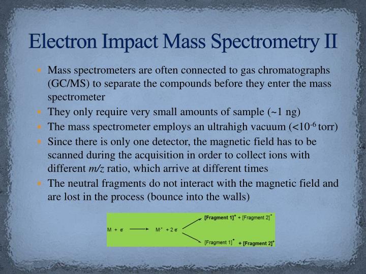 Electron Impact Mass Spectrometry