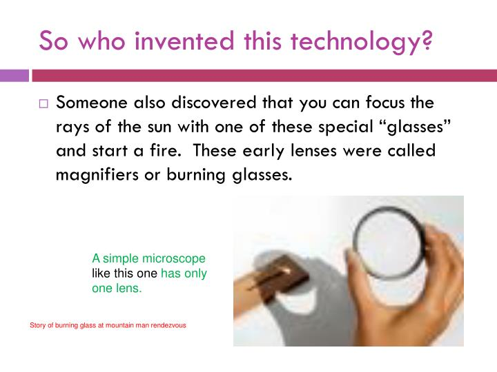 So who invented this technology?