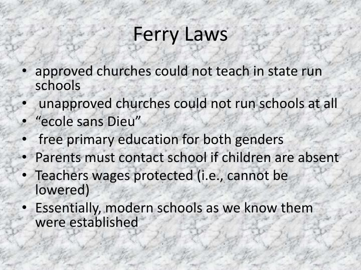 Ferry Laws