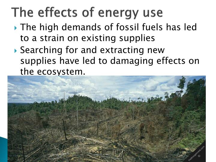 The effects of energy use