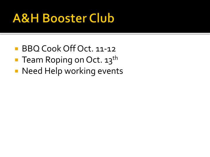 A&H Booster Club
