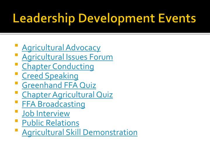 Leadership Development Events