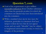 question 7 cont