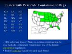states with pesticide containment regs