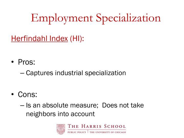 Employment Specialization