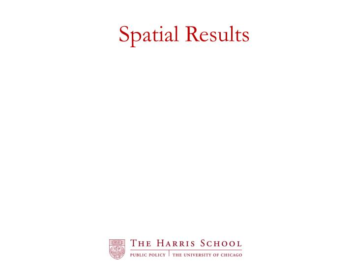 Spatial Results