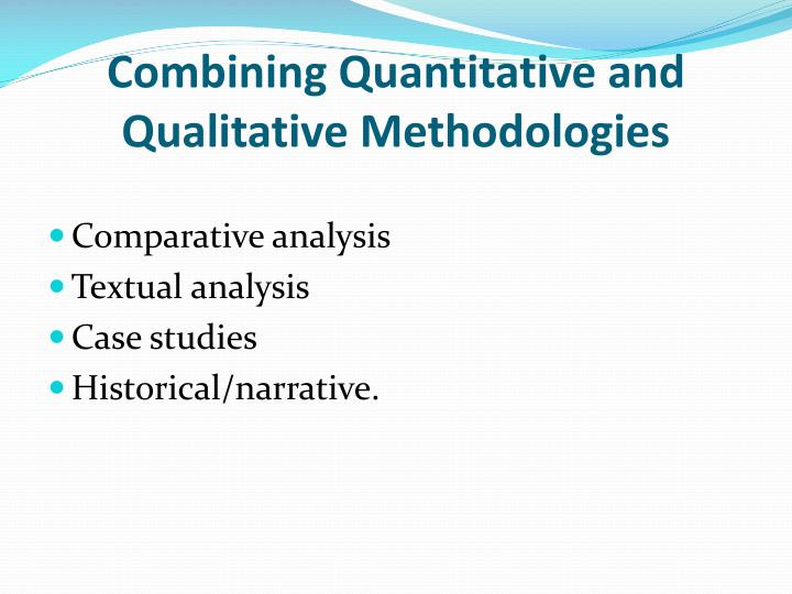 a qualitative and quantitative research of journal of advanced nursing In an idealized model of analytic generalization, qualitative researchers in both qualitative and quantitative research  journal of advanced nursing.