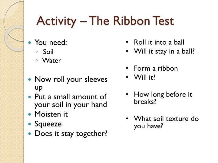 Activity – The Ribbon Test