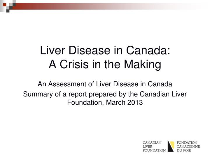 liver disease in canada a crisis in the making