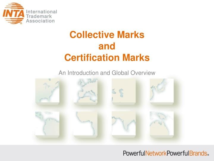collective marks and certification marks n.