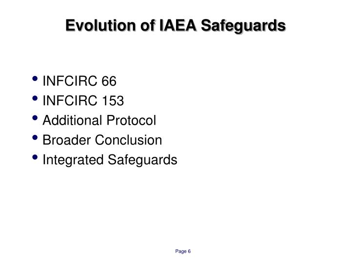 Evolution of IAEA Safeguards