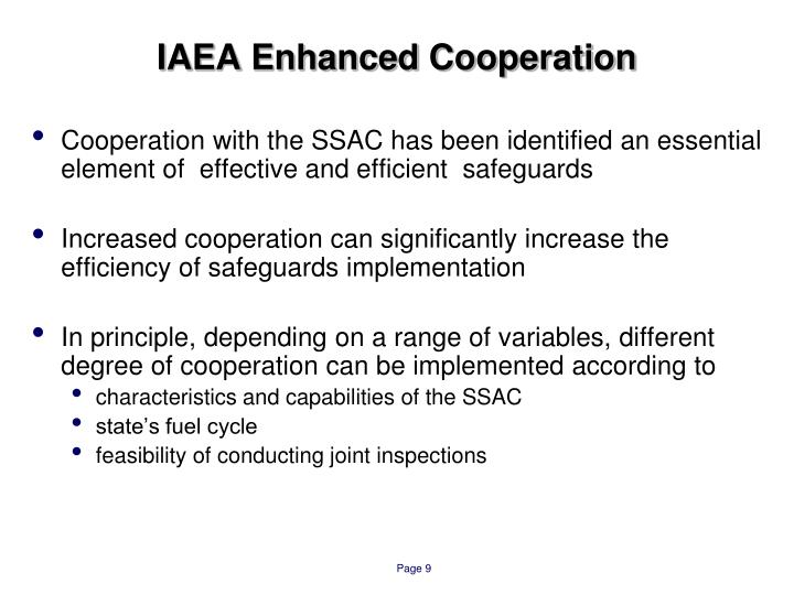 IAEA Enhanced Cooperation