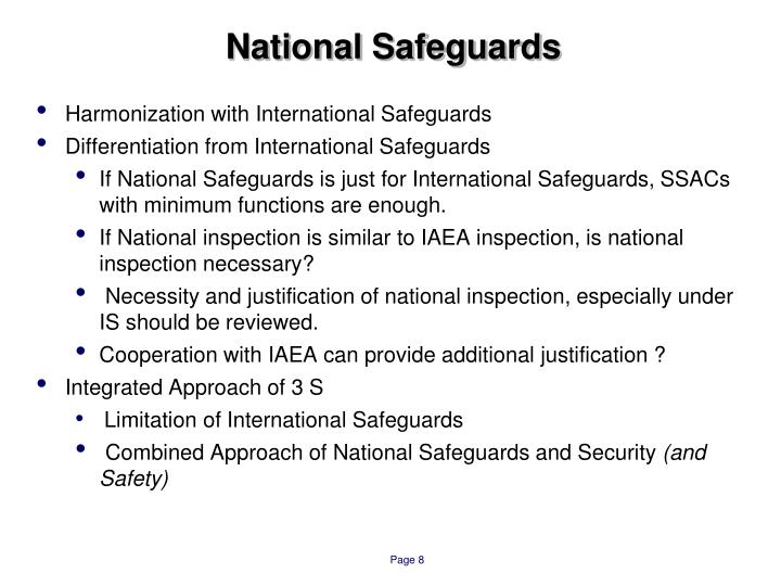 National Safeguards