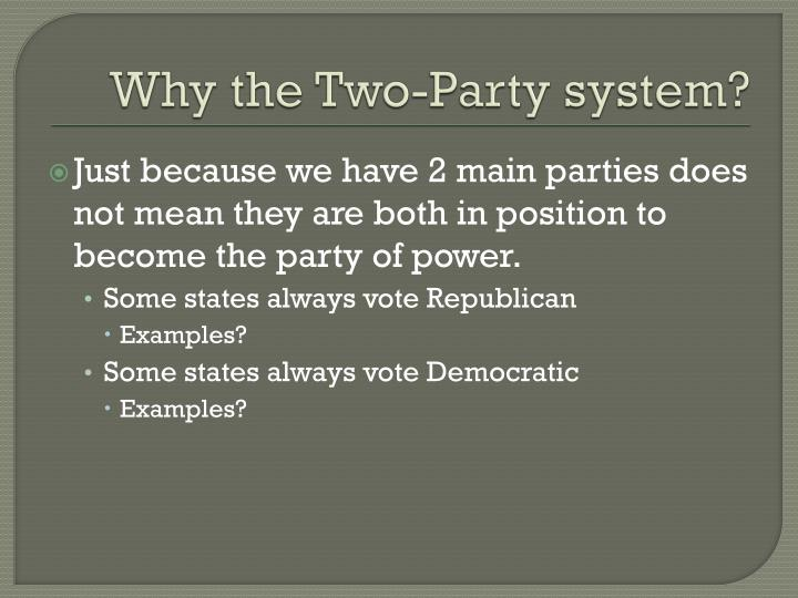 Why the Two-Party system?