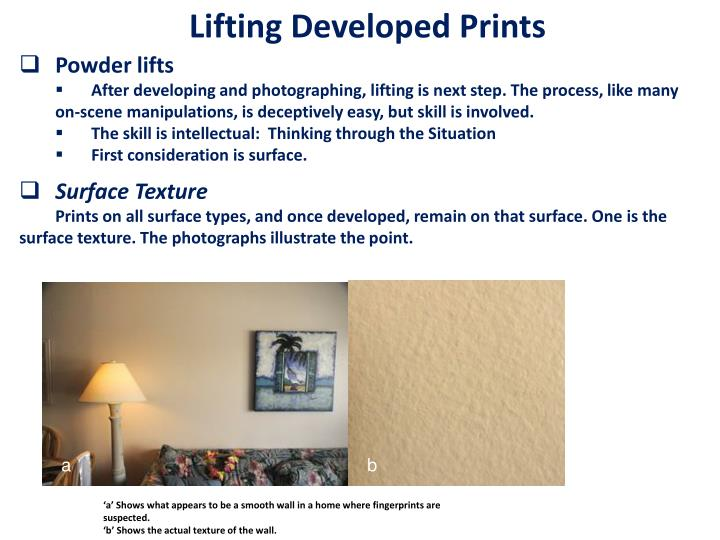 Lifting Developed Prints