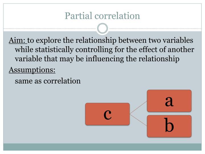 Partial correlation
