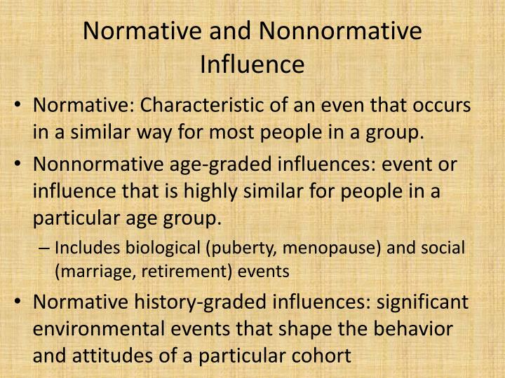 normative age graded influences