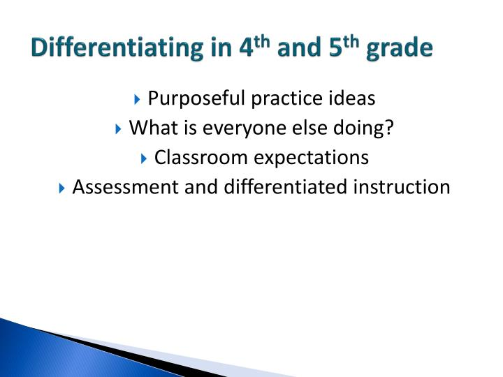 Differentiating in 4