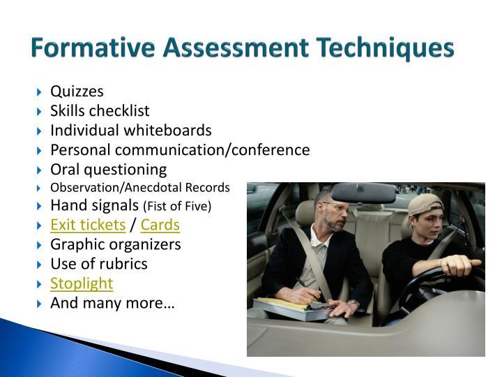 Formative Assessment Techniques