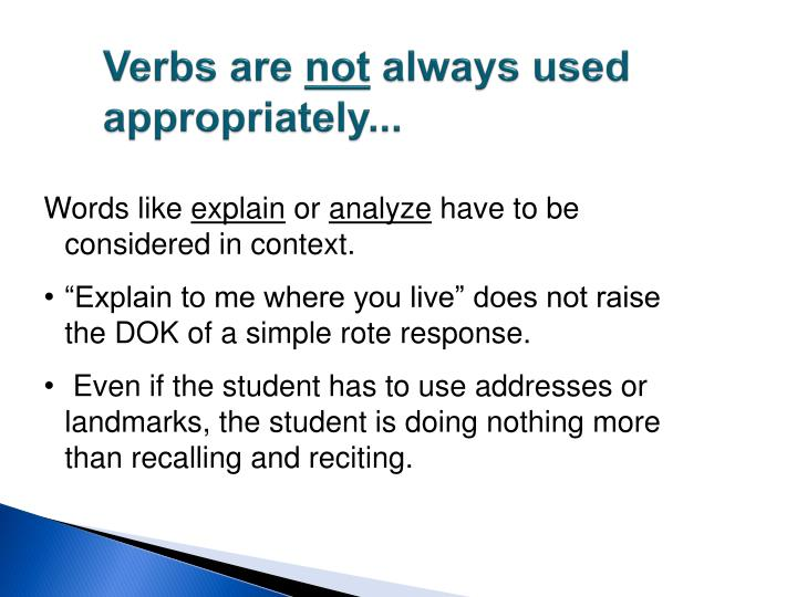 Verbs are