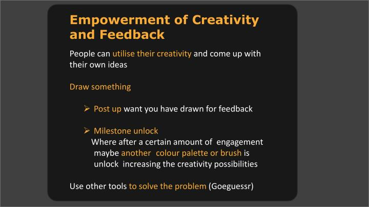 Empowerment of Creativity and
