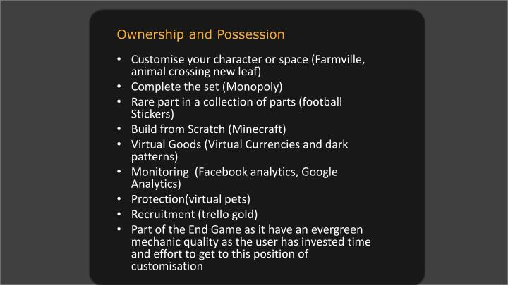 Ownership and Possession