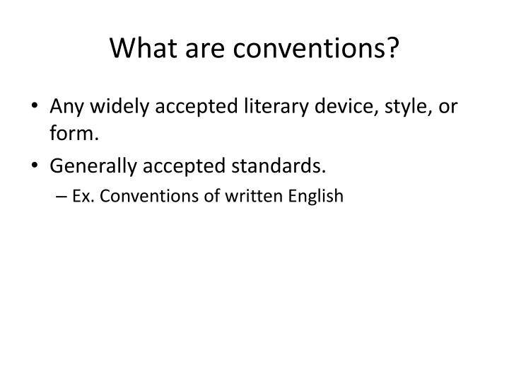 what are conventions in english
