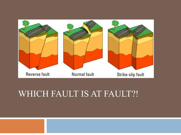 Which fault is at fault?!