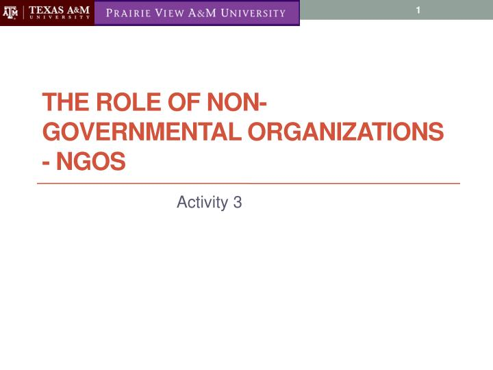 the role of ngon in reducing Definition of ngos a non-governmental organization (ngo) is any non-profit, voluntary citizens' group which is organized on a local, national or international level task-oriented and driven by people with a common interest, ngos perform a variety of service and humanitarian functions, bring citizen concerns to governments, advocate and.