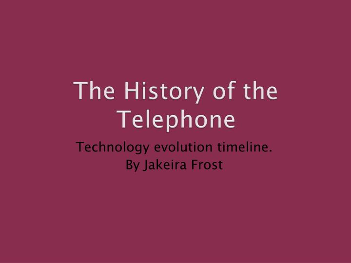 the history of the telephone n.