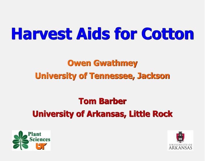 harvest aids for cotton n.