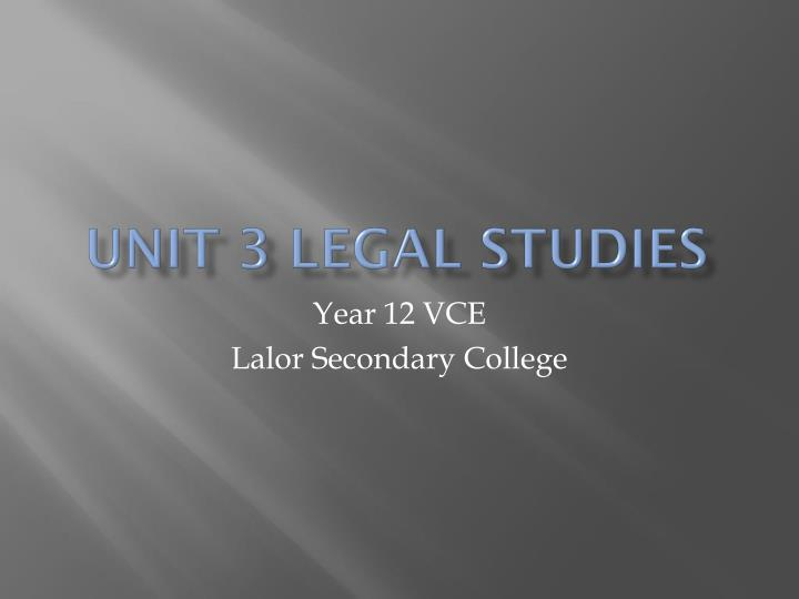 unit 3 legal and financial