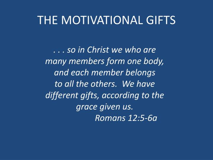 the motivational gifts n.