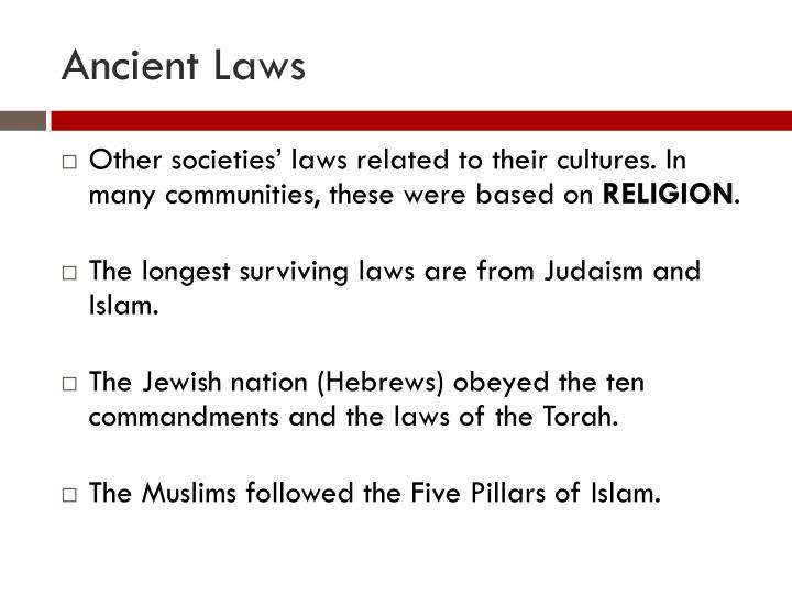 Ancient Laws