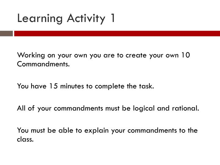 Learning Activity 1