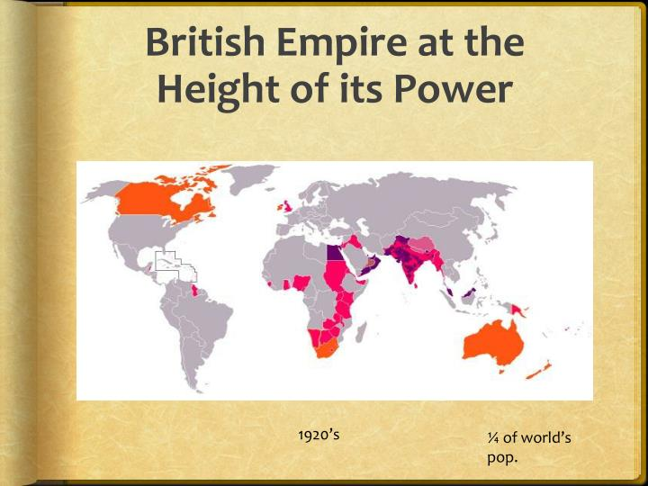 British Empire at the Height of its Power
