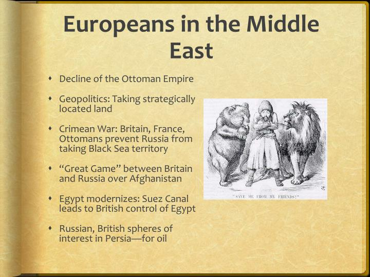 Europeans in the Middle East