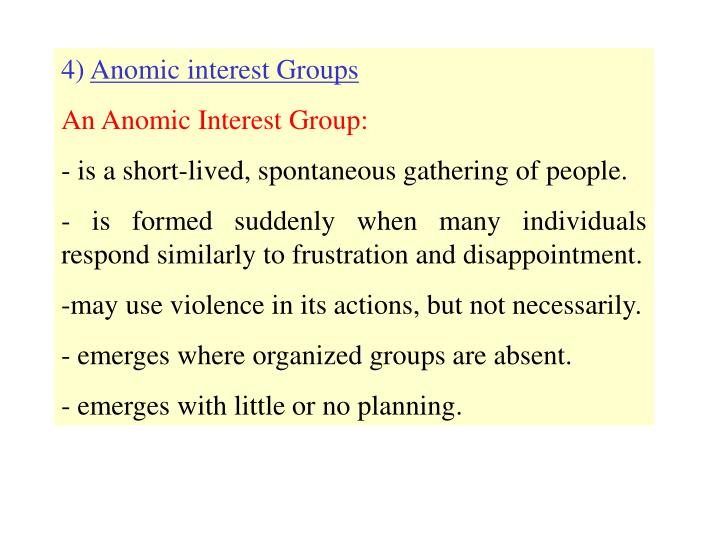 anomic interest group