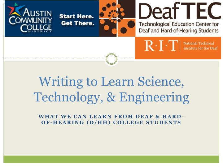 writing to learn science technology engineering n.