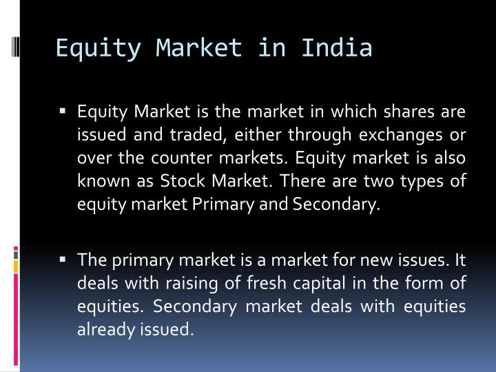 equity market in india n.