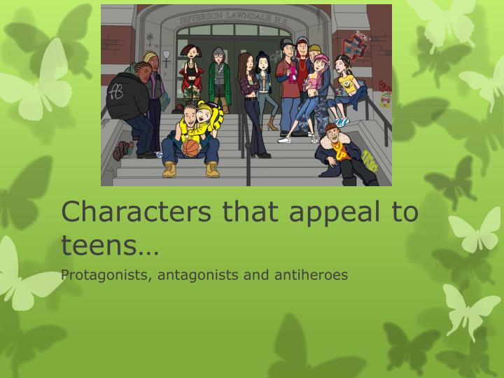characters that appeal to teens n.