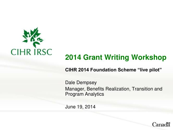 2014 grant writing workshop n.