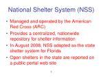 national shelter system nss